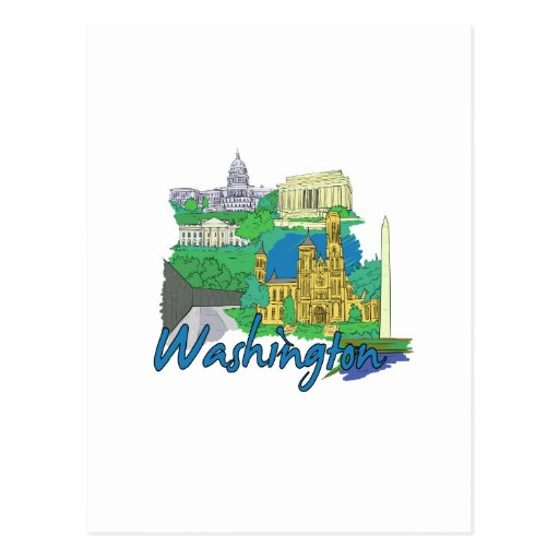 washington dc america city travel graphic vacation post cards