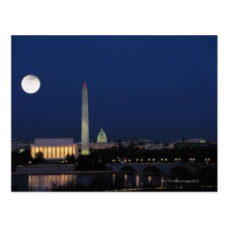 Washington DC at Night Post Card