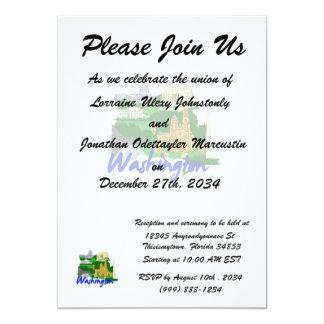 washington dc blue green america city travel vacat 13 cm x 18 cm invitation card