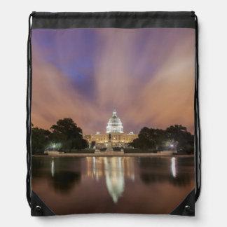 Washington DC, Capitol Building Drawstring Bag