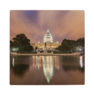Washington DC, Capitol Building Wood Coaster
