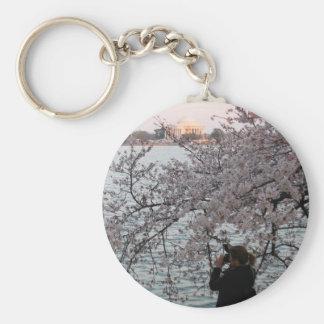 Washington DC Cherry Blossom Basic Round Button Key Ring