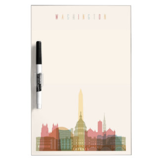 Washington, DC | City Skyline Dry Erase Board