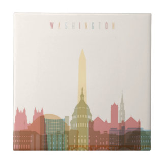 Washington, DC   City Skyline Tile