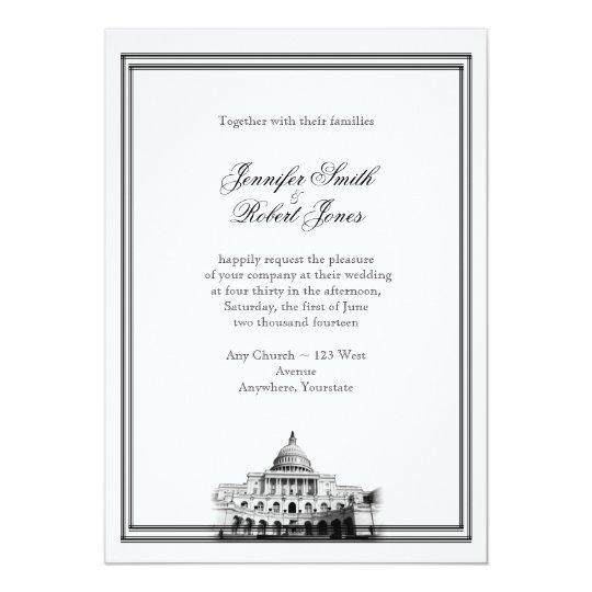 Washington DC Destination Wedding Invitation