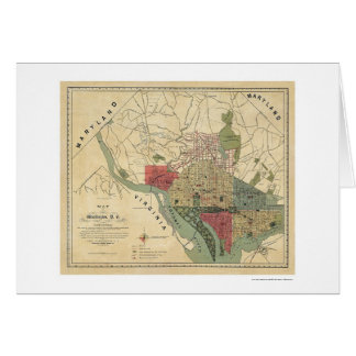 Washington DC Environs Map by Silversparre 1887 Card