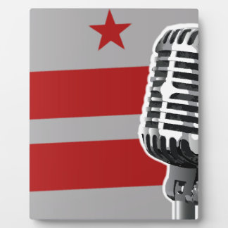 Washington DC Flag And Microphone Display Plaques