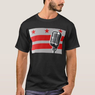 Washington DC Flag And Microphone T-Shirt
