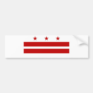 Washington DC Flag Bumper Sticker