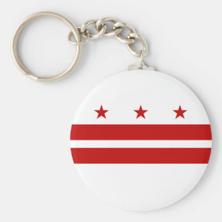 Washington DC Flag Key Ring