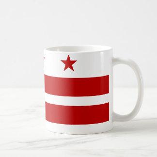 Washington DC Flag Basic White Mug