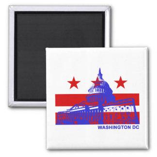 Washington DC Flag Square Magnet
