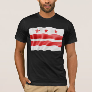 Washington DC Flag Waving - District of Columbia T-Shirt