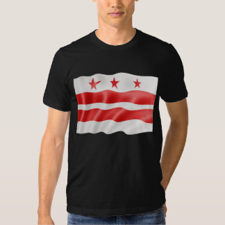 Washington DC Flag Waving - District of Columbia T Shirts