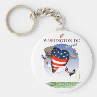 Washington DC football champs, tony fernandes Key Ring