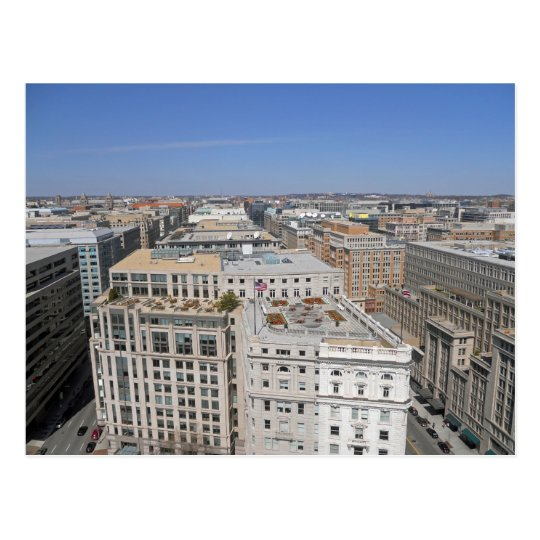 Washington DC from the Old Post Office Tower 001 Postcard