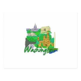 washington dc green america city travel vacation.p post card