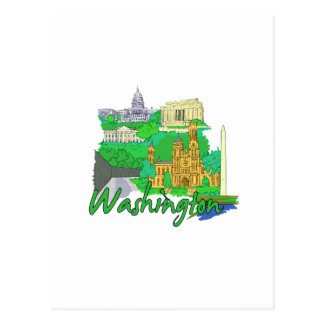 washington dc green america city travel vacation.p postcard