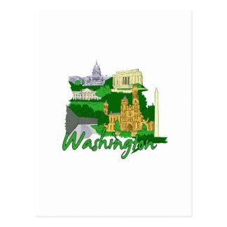 washington dc  green america city travel vacation. post card