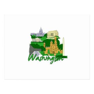 washington dc  green america city travel vacation. postcards