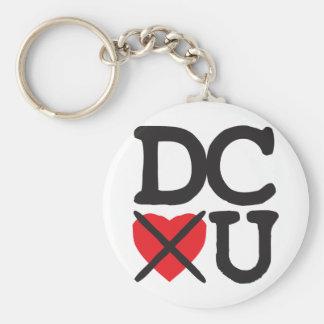 Washington DC Hates You Basic Round Button Key Ring
