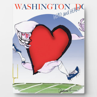 Washington DC head heart, tony fernandes Display Plaque