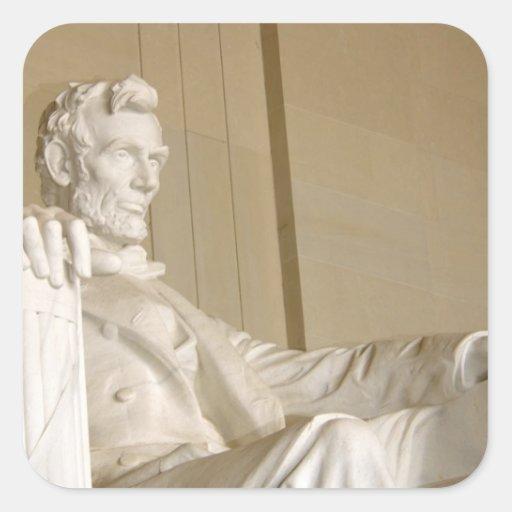 Washington, DC, Lincoln Memorial Square Stickers