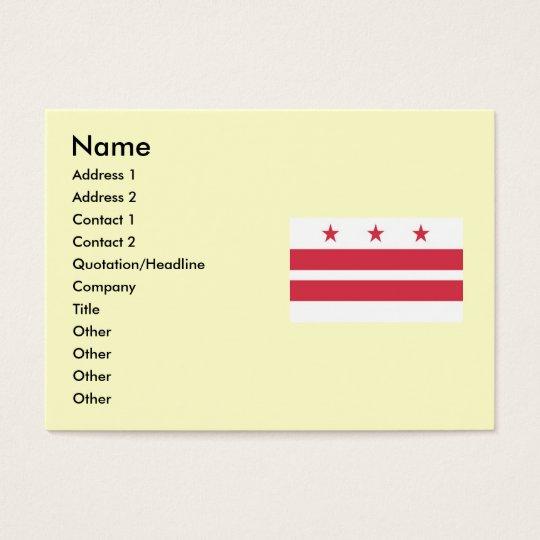 Washington DC  Map and Flag Business Card