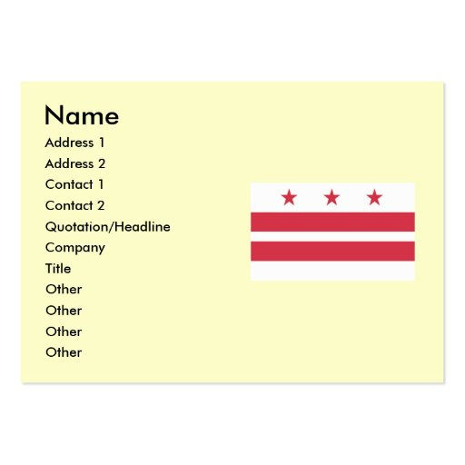Washington DC  Map and Flag Pack Of Chubby Business Cards