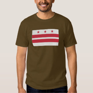 Washington DC  Map and Flag Shirt