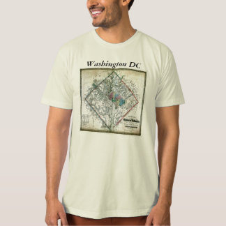 Washington DC  Map and Flag T-Shirt