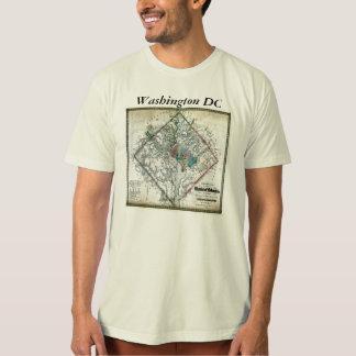 Washington DC  Map and Flag Tee Shirts