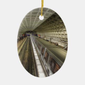 Washington DC Metro Train Station Christmas Ornament
