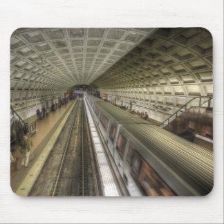 Washington DC Metro Train Station Mouse Pad
