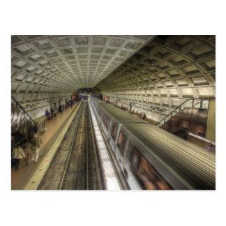 Washington DC Metro Train Station Postcard