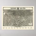 Washington, DC Panoramic Map - 1923 Poster