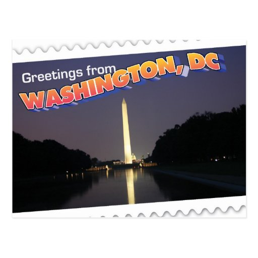 Washington, DC postcard Washington Monument