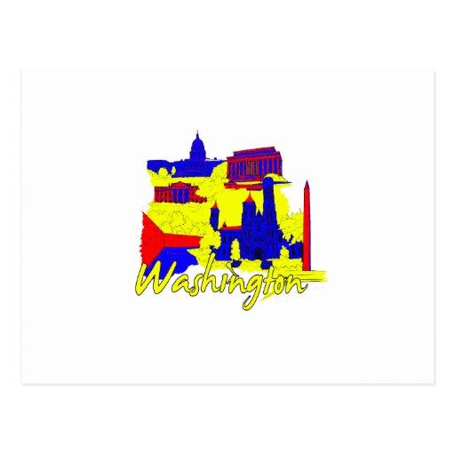 washington dc primary america city travel vacation postcard