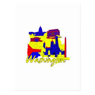 washington dc primary america city travel vacation post card