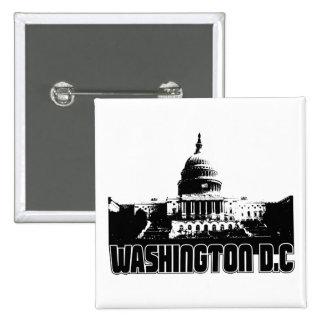 Washington DC Skyline 15 Cm Square Badge