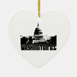 Washington DC Skyline Christmas Ornament