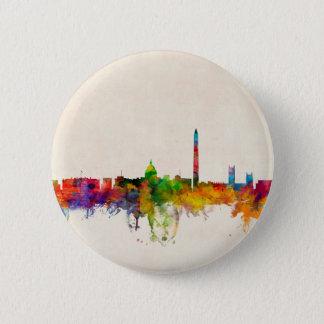 Washington DC Skyline Cityscape 6 Cm Round Badge
