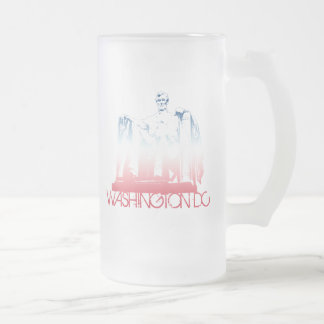 Washington DC Skyline Design Frosted Glass Mug
