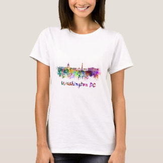 Washington DC skyline in watercolor T-Shirt