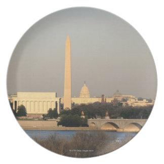 Washington DC Skyline Plate