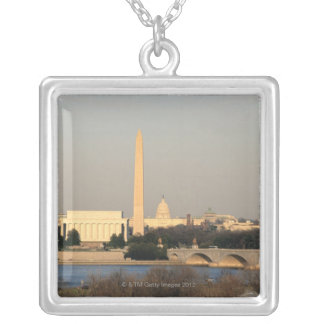 Washington DC Skyline Silver Plated Necklace