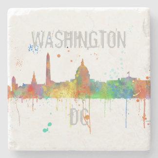 WASHINGTON DC SKYLINE STONE COASTER