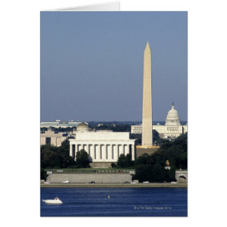 Washington DC Skyline with US Capitol Building 2 Greeting Card