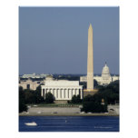 Washington DC Skyline with US Capitol Building 2 Poster