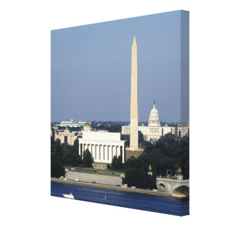 Washington DC Skyline with US Capitol Building 2 Stretched Canvas Print